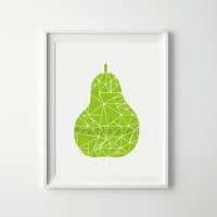 Pear Print, Printable Wall Art, Pear Illustration, Geometric Design, Scandi Art, Scandinavian, Minimal Wall Art, Nursery Wall Art, Green Art