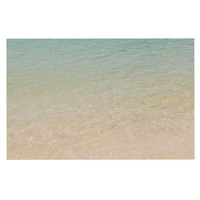 "Catherine McDonald ""Ombre Sea"" Beach Photography Decorative Door Mat"