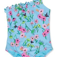 Toddler Girl's Hula Star 'Fairy Garden' One-Piece Swimsuit,