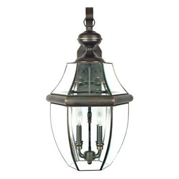 Quoizel Newbury Outdoor Extra-Large Wall Lantern in Medici Bronze