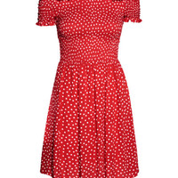 Dress with Smocking - from H&M