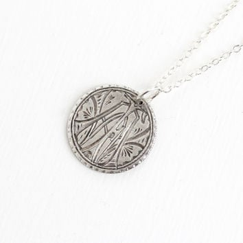 Antique Silver Monogrammed Love Token Coin Pendant Necklace - Victorian 1883 Seated Liberty Dime Coin Charm Vintage Initial Jewelry