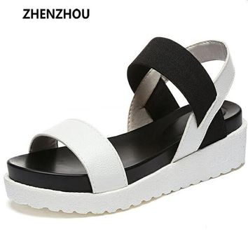 Hot Selling sandals women Summer shoes woman 2016 peep-toe flat Shoes Roman sandals Wo