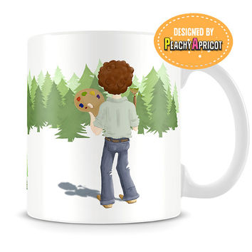 Bob Ross - Happy Quotes Mug