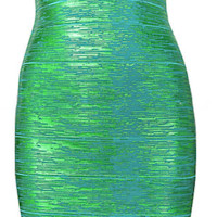 Elijah Liquid Bandage Dress - Green