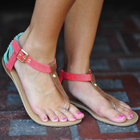 Walk Your Heart Out Sandals: Coral | Hope's