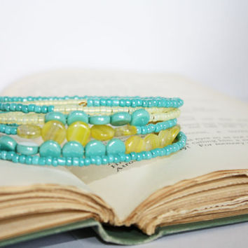 Lemonade Cooler Picnic Bracelet by orangeminx on Etsy