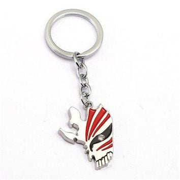 J Store Anime Fairy Tail Keychain Metal Bleach Key Chain Alloy Mask Pendant Keyring Figure Cosplay Chaveiros
