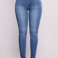 Ezra Skinny Jeans - Medium Blue