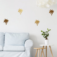 Palm Wall Decals, Wall Stickers, Palm Trees Wall Stickers, Palm Pattern, Vinyl Decal, Wall Decal, Palm Pattern Wall Decals, Set of 30,