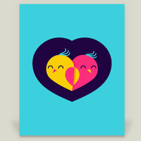 Love Birds Art Print by dzoneink on BoomBoomPrints