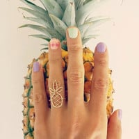 "Ring ""Woven Pineapple"" (14K gold filled or Sterling Silver) Hawaiian jewelry, Island style, Tropical, Beachy, Handmade with Aloha in Hawaii"