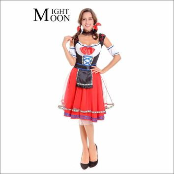 6c10b08d231 MOONIGHT Women Sexy Halloween Party Beer Festival French Maid Co. Special  Use  Costumes ...