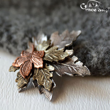 Hot 2016 Fashion Jewelry Wedding Brooch Lapel Pin Men Brooches Broches Vintage Gold Silver Metal Leaf  Collar Brooches For Women