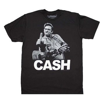 Johnny Cash the Bird T-Shirt