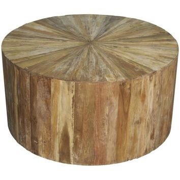 Jeb Round Teak Wood Coffee Table