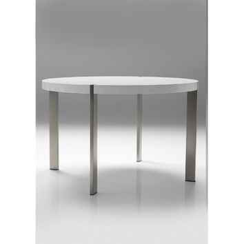 Mobital Voom Round Dining Table In High Gloss White