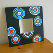 Mirror Handpainted Dots Aboriginal Inspired by Acires on Etsy
