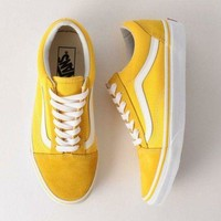 Vans Fashion Casual Sport Classics Old Skool Yellow Sneaker Yellow G