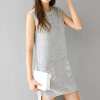 Super Comfy Uneven Bottom Knit Dress DR0312