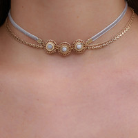 Trilogy Choker Set - Grey