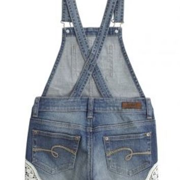Crochet Denim Shortalls | Girls Shorts Clearance Bottoms | Shop Justice
