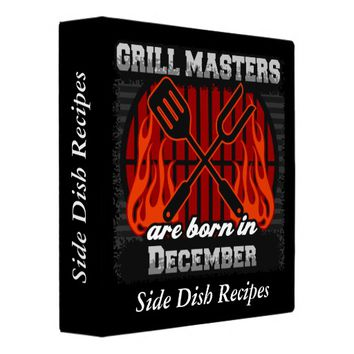 Grill Masters Are Born In December Personalized Binder