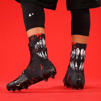 Villain Black Red Spats / Cleat Covers
