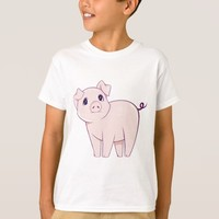 Cute Little Pink Pig Art T-Shirt