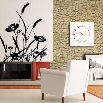 Vinyl Wall Decal Sticker Wild Flowers #AC160