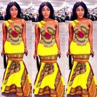Yellow Dashiki Maxi Dress