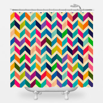 Dimensional Retro Shower Curtain
