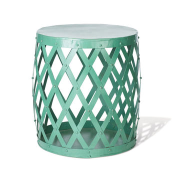 Mint Green Drum Table