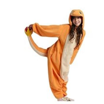 Charmander Adult Unisex Animal Kigurumi Cosplay Costume Pajamas Onesuits