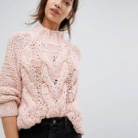 Vila Cable Knit Sweater at asos.com