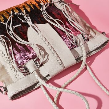 Free People Midnight Hour Sequin Tote