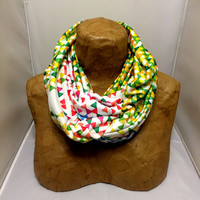 Colorful Knit Scarf - Hollywood Funfetti Sunset Infinity Scarf