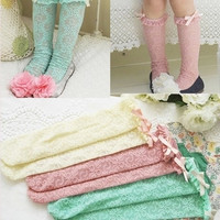 Child's Lace Dress Socks Fashion Baby Sport Socks Girls Boot Socks = 1714513476