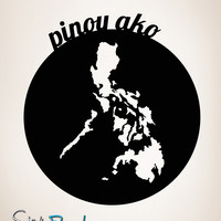 Vinyl Wall Decal Sticker Pinoy Ako Filipino #OS_MB188