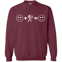 Sad + Archery = Happy Sweatshirt