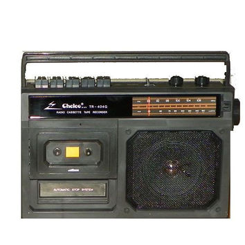 Chelco Deluxe Portable AM / FM Radio Cassette Tape Player Recorder Retro TR404G