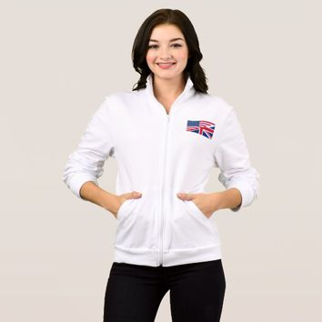 American and Union Jack Flag Women's Jacket
