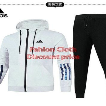 Adidas Jacket Sweater New Style Fashion Trend Long Sleeve Suit For Women 18928 M-3X White Black