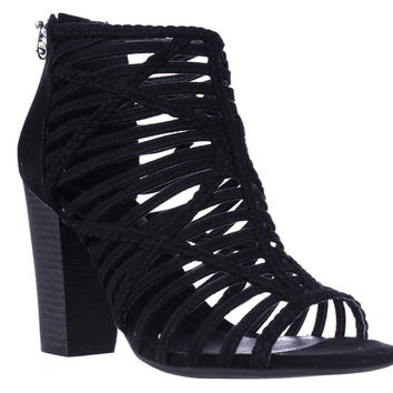 G by GUESS Jelus Strappy Block Heel Sandals - Black