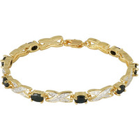 Classic Treasures™ Genuine Sapphire and Diamond-Accent Tennis Bracelet
