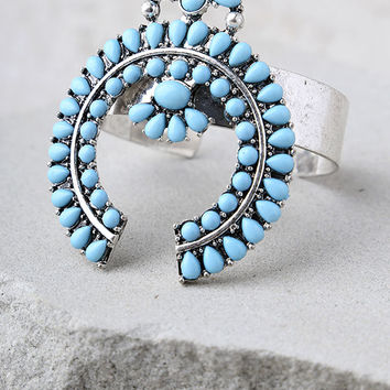 Ceremonial Silver and Turquoise Cuff Bracelet