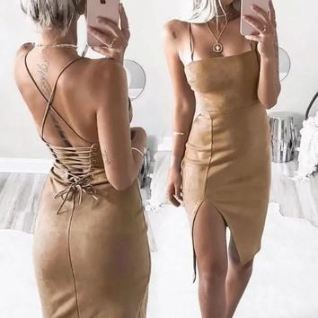 Strap Sleeveless Mini Dress