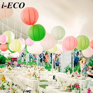 10PCS 6inch Colorful Chinese Paper Lantern Paper Lampion Ball DIY Paper Lanterns Wedding Party Decorations Baby Shower Favors