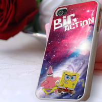 Nebula Galaxy,spongebob case for iPhone 4/4s, iPhone 5/5S/5C, Samsung S3 i9300, Samsung S4 i9500 *ahzacase*