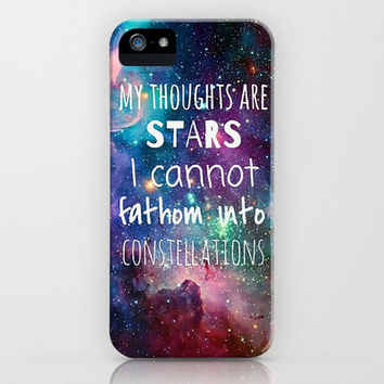 My Thoughts are Stars iPhone & iPod Case by Pink Berry Pattern